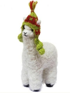 Alpaca wearing a chullo Christmas Ornament - Decorate Christmas ...