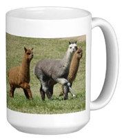 Alpacas in motion Mug for sale by Paragon Alpacas