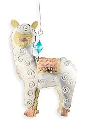 Whimsical Alpaca Ornament