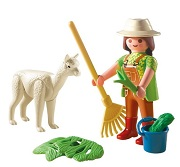 Playmobil Alpaca Farmer and Cria