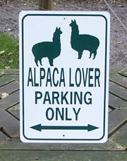 Alpaca Lover Parking Only